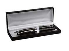Striped Ballpoint And Rollerball Pen Set - Branded Corporate Gifts from Ignition Marketing - Branded Pens