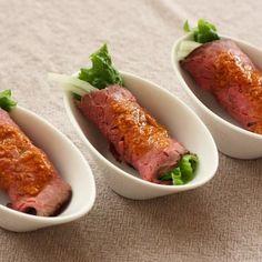 ローストビーフのカップ寿司