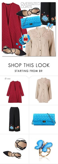 """NEWCHIC oversized coat"" by mada-malureanu ❤ liked on Polyvore featuring GetTheLook, oversizedcoats and lovenewchic"