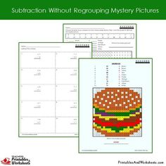 Grade 2 Subtraction Without Regrouping Coloring Worksheets Sample 1 Coloring Worksheets, Coloring Pages, 2nd Grade Math Worksheets, Color Activities, Addition And Subtraction, Grade 2, Have Fun, Mystery, Lettering