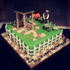 Birthday cake for a Landscape Gardener