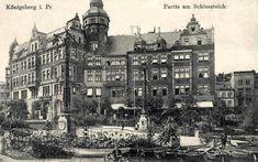 Blick vom Königsberger Schlossteich auf die palaisartigen Stadthäuser an der…