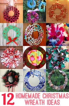 12 Homemade Christmas Wreath Ideas: Make a wreath as a family as a fabulous keepsake and tradition