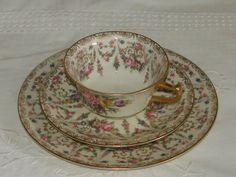Vintage Rosenthal tea cup trio