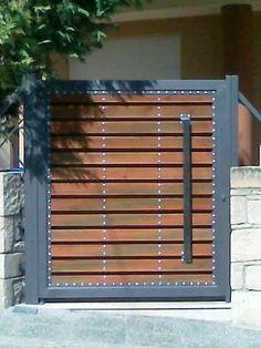 Resultado de imagen para como reforzar un porton de madera con hierro #artesaniasenhierro