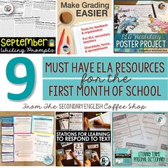 Back to school ideas and resources for your secondary or middle school english classroom.