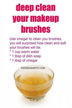 Vinegar Makeup Brush Cleaner for deep cleaning of your brushes - Vinegar Makeup . - Vinegar Makeup Brush Cleaner for deep cleaning of your brushes – Vinegar Makeup Brush Cleaner for - Homemade Makeup Brush Cleaner, Makeup Brush Uses, How To Clean Makeup Brushes, Cleaners Homemade, Diy Quick Makeup Brush Cleaner, Make Up Brush, Professionelles Make Up, Brush Set, Nars Cosmetics