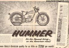 1955 Harley-Davidson Hummer 16'' x 20'' Matted Vintage Motorcycle Ad / Art