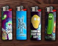 Rick and Morty Lighters Rick And Morty Characters, Rick I Morty, Stoner Gifts, Get Schwifty, Adult Cartoons, Perfect For Me, Creative Decor, Glass Smoking Bowls, Trippy