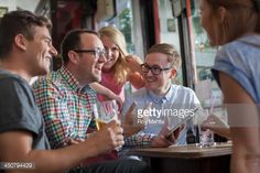 Stock Photo : group of friends in a pub