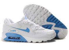 UK Market - Nike Air Max 90 Mens BabyBlue White Trainers