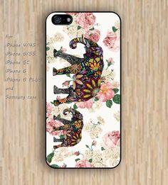 iPhone 5s 6 case elephant flowers dream catcher colorful phone case iphone case,ipod case,samsung galaxy case available plastic rubber case waterproof B595