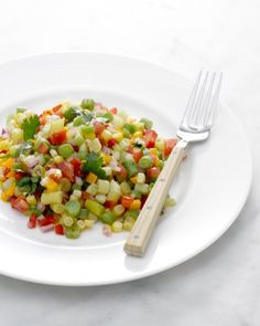 An easy Chopped Vegetable Salad that even kids might like
