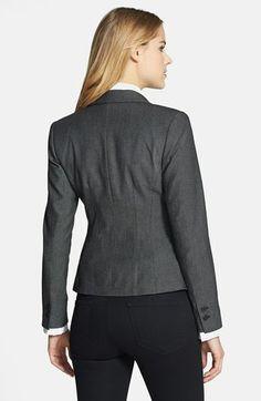Halogen® Pin Dot Weave Suit Jacket (Regular & Petite)   Nordstrom Dark Trim, Business Suits, Weave, Suit Jacket, Dots, Nordstrom, Pullover, Sweaters, Jackets