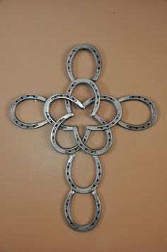 Horseshoe Cross with Star by AmericanSteel on Etsy