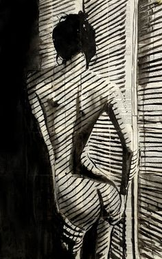 Artist Loui Jover creates striking artwork of pen and ink on fragile vintage book pages
