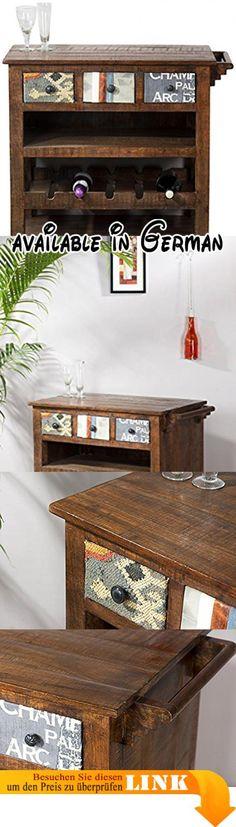 B078FPHB5B  Holz Küche Trolley für FlaschenAmbrogio Sommelier - küchenwagen mit schubladen