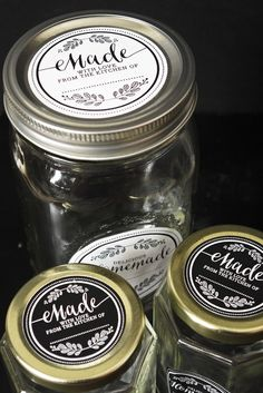 Handmade with love labels for mason jars on the contest page