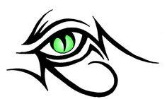 Tribal dragons eye by Sachriel