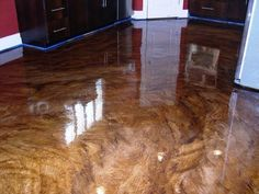 acid stained concrete flooring with gloss finish | Stained concrete flooring, Ultra high gloss. Epoxy, Urethane stain ...