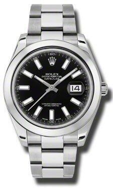 best buy luxury watches Rolex Datejust II Black Dial Stainless Steel Mens Watch 116300BKSO #rolex #watches #luxury #gorgeous #sexy #macho