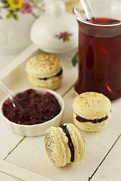 Splendidly yummy sounding Cherry and Cream Cheese Filled Macarons.