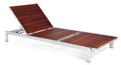 Case Study Stainless Chaise, Brazilian Walnut - Modernica