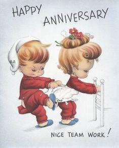 Happy Anniversary Postcards