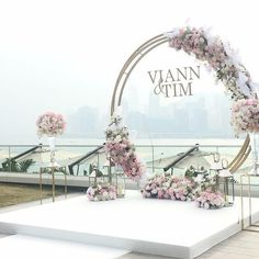 Design & Decoration: Venue: ============================ Design and Production by Onlymine Whatsapp: 852 6038 8546 Tel: 852 2185 7221 / 852 2185 7222 Email: hello Website:www. Wedding Arch Flowers, Wedding Ceremony Arch, Wedding Altars, Wedding Stage, Wedding Ceremony Decorations, Ceremony Backdrop, Wedding Centerpieces, Wedding Events, Dream Wedding