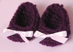 Purple Infant Shoes Baby Girl Booties Newborn on Etsy, $12.00