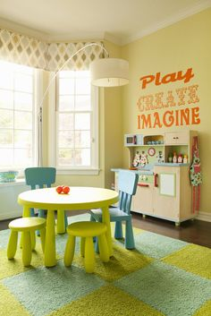 try something new on walls for the playroom