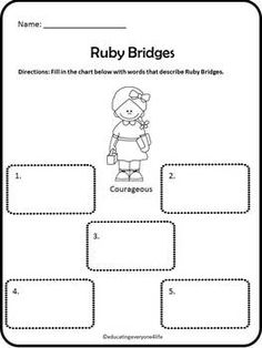 Worksheets Ruby Bridges Worksheets activities comprehension and student on pinterest ruby bridges