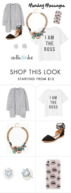 """""""Message Tees #2"""" by amy-kriz on Polyvore featuring MANGO, Stella & Dot, Madewell and Rebecca Minkoff"""