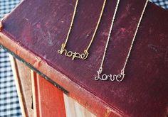 14k Goldpersonalized name custom wire necklace by makepienotwar, $35.00