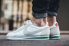 The Nike Cortez Nylon Premium Comes In Pale Grey