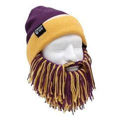 Beard Head Tailgate New England Knit Beanie w/ Beard Hat (Blue & Red) at Amazon Men's Clothing store: Skull Caps