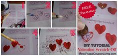 DIY Valentine Series. Grab a FREE Printable and STEP-BY-STEP Tutorial for Valentine's Day Scratch-Off Tickets #freebie #printable #valentinesday