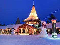 Take a look at Santa Claus Village where elves built Santa's office in an effort to keep his year-round digs a secret!