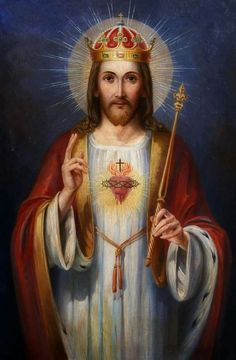 With Christmas just around the corner our thoughts turn naturally to the birth of Jesus. Most think of Jesus as a teacher and a healer, they would be right. Christ The King, King Jesus, Jesus Is Lord, Pictures Of Jesus Christ, Religious Pictures, Catholic Art, Religious Art, God Themes, Heart Of Jesus