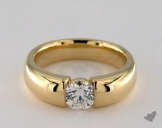 18K Yellow Gold Tension Engagement Ring