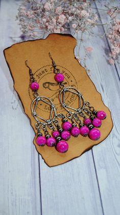 Items similar to Long Pink Chandelier Earrings - Boho Earrings Handmade - Gypsy Earrings - Indian Earrings - Jewelry For Her Anniversary - Gift For Women on Etsy Indian Earrings, Boho Earrings, Chandelier Earrings, Pink Chandelier, Jewelry For Her, Jewelry Making, Unique Jewelry, Handmade Beaded Jewelry, Earrings Handmade