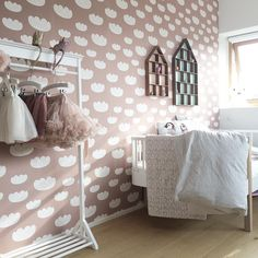 Cloud Wallpaper, Ferm Living Wallpaper, Room Wallpaper, Ferm Living Kids,  Kids Wall Decor, Modern Room, Girl Rooms, Girls Bedroom, Room Kids