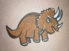 triceratops face paint design dinosaur cheek art