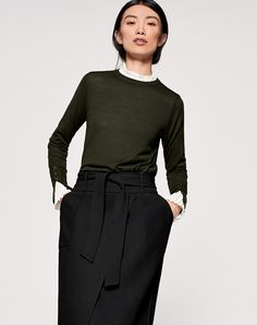 The Fit+ Slim straight fit+ Fits true to size+ Model pictured is a size 8 wearing a size 8 Style Notes