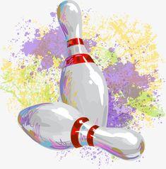Vector Drawing Bowling Recreational Activities Vector drawing bowling recreational activities PNG and Vector Bowling Party, Bowling Pins, Gold Wallpaper, Iphone Wallpaper, Bowling Pictures, Recreational Activities, Rock Art, Painted Rocks, Birthday Invitations
