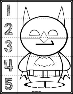 $1 | Teach counting skills with these Superheroes! Great for teaching number recognition for numbers 1-5. Includes seven cartoon characters resembling: Batman, Ironman, Hulk, Thor, Captain America, Spiderman, and Wolverine! #preschool #preschoolers #preschoolactivities #kindergarten #Homeschooling #mathcenters #marvel #superheroes #superhero