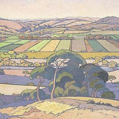 "hajandrade: ""Jacobus Hendrik Pierneef (South African, 1886 - An Extensive View of Farmlands, 1926 "" Landscape Art, Landscape Paintings, Landscapes, Abstract Paintings, South Africa Art, Most Expensive Painting, Define Art, African Paintings, South African Artists"