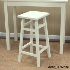 @Overstock.com - Weston 30-inch Pub Stool - Eat and drink at the kitchen counter by placing this wood pub stool nearby. The sturdy hardwood construction features a convenient footrest and backless design for casual lounging. This stool is available in a variety of colors to match your decor.  http://www.overstock.com/Home-Garden/Weston-30-inch-Pub-Stool/7568767/product.html?CID=214117 $73.99