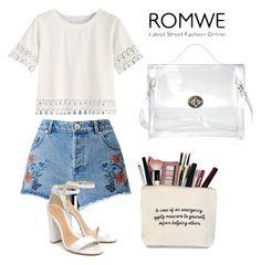"""ROMWE"" by muamera20 ❤ liked on Polyvore featuring Miss Selfridge, Schutz and Kylie Cosmetics"