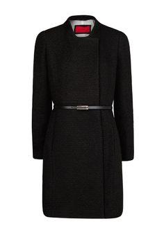 Длинное пальто букле